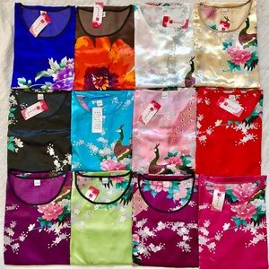 Dresses & Skirts - Japanese kimono floral nightgown lingerie dress